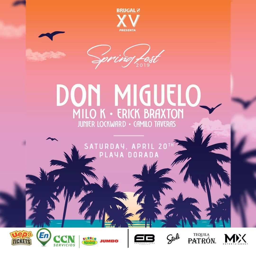 Spring Fest 2019 Con Don Miguelo, Milo K, Erik Braxton, Junier Lockward y Camilo Taveras.