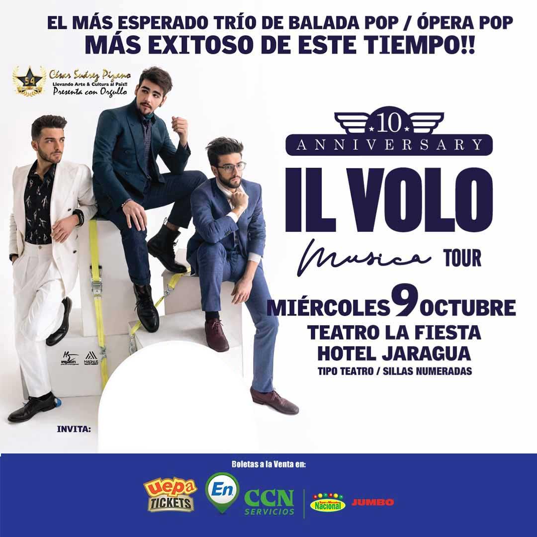 """IL Volo """"10 Anniversary"""" Música Tour"""