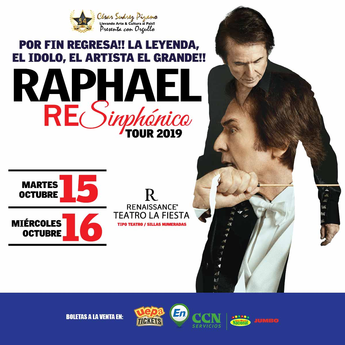Raphael ReSinphónico Tour 2019