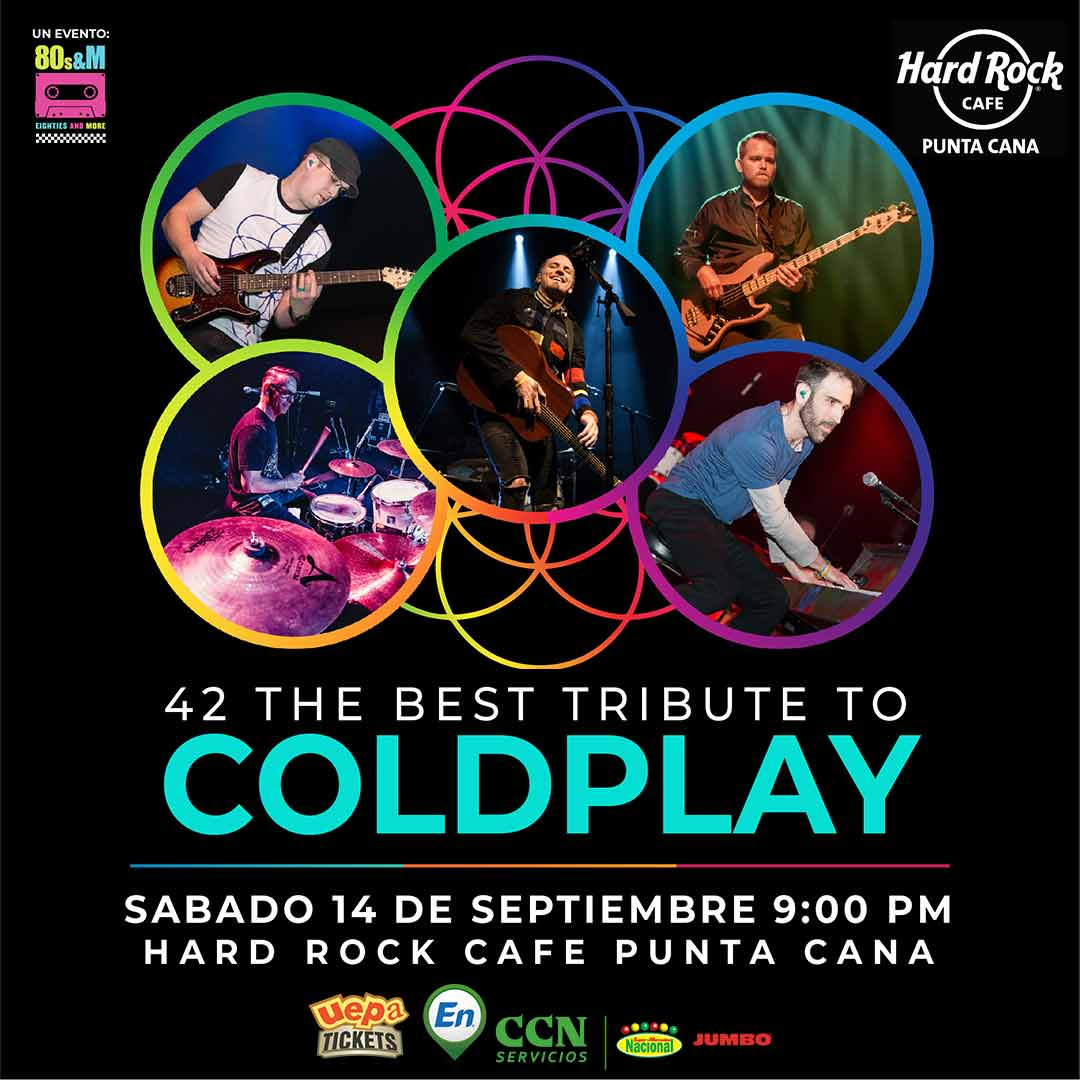 "Forty Two ""42"" The Best Tribute To Coldplay / Función Punta Cana"