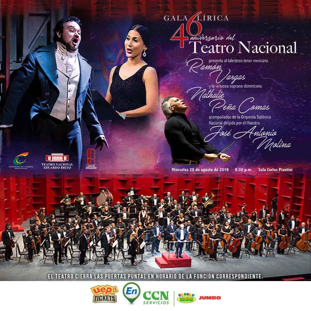 Gala Lírica 46 Aniversario Teatro Nacional Eduardo Brito