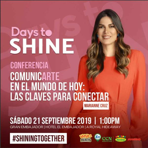 Conferencia Days To Shine 2019 Marianne Cruz