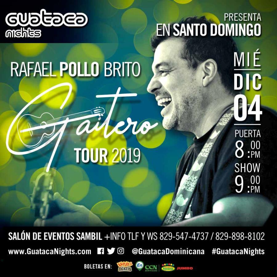 Rafael Pollo Brito: Gaitero Tour 2019