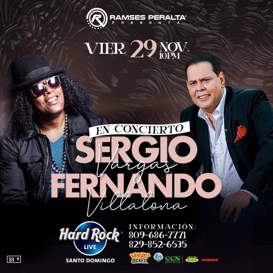Sergio Vargas y Fernando Villalona En Concierto