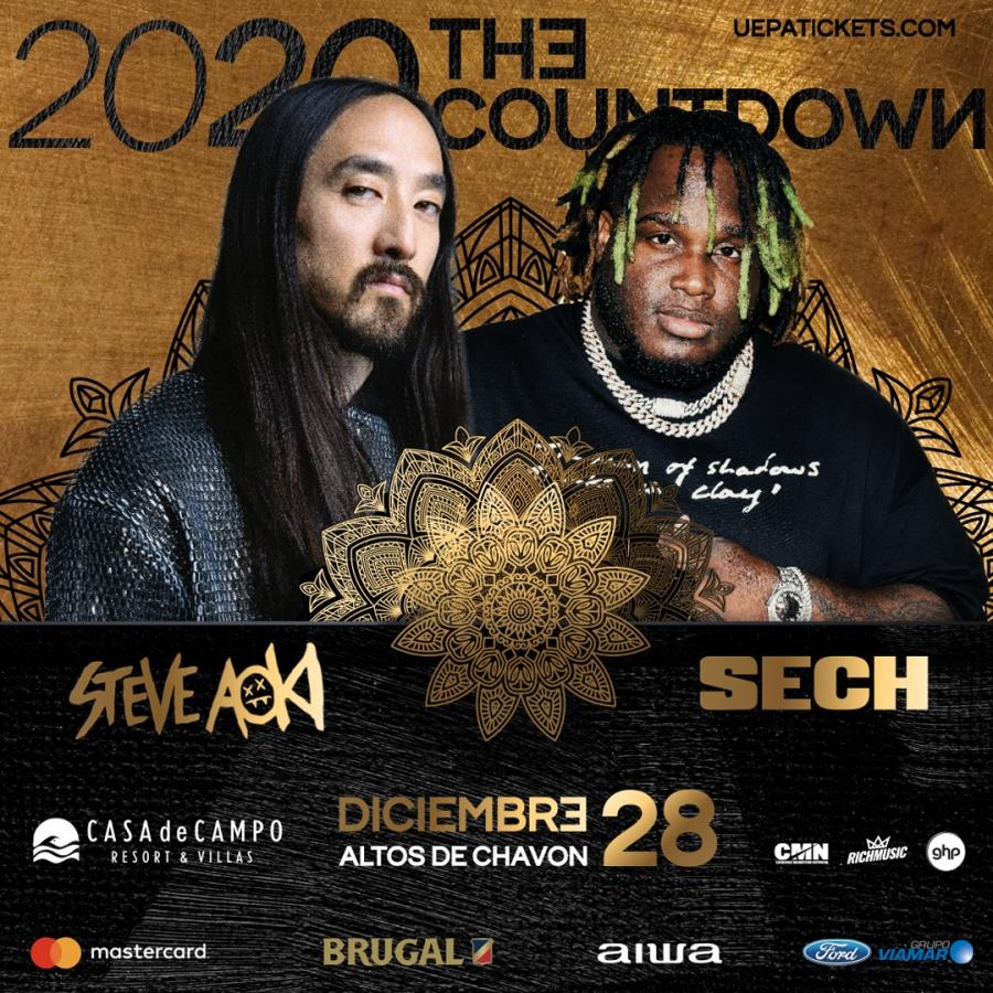 2020 The Count Down, Steve Aoki and Sech.
