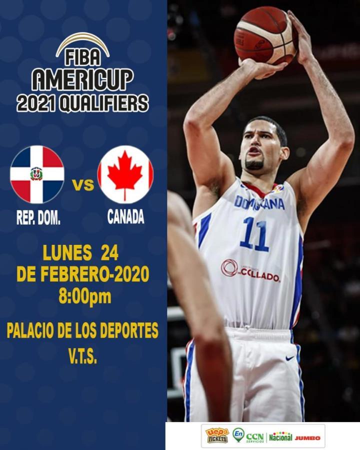 REPÚBLICA DOMINICANA VS CANADÁ: Clasificatorio a la Fiba Americup 2021