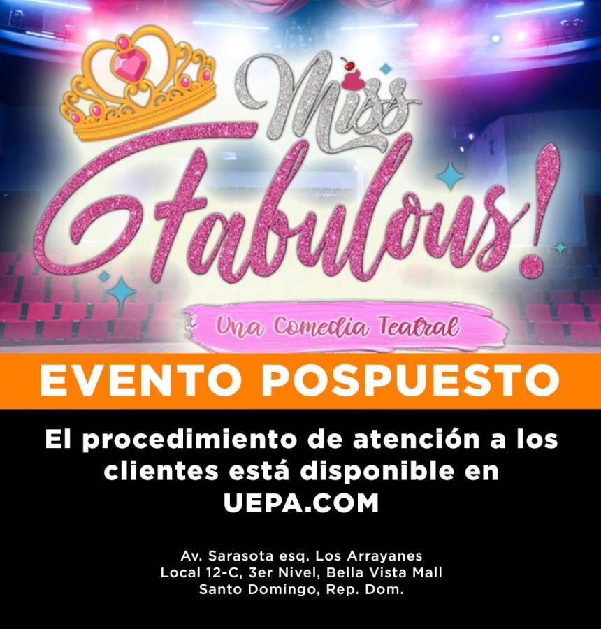 Miss Fabulous, Una Comedia  Teatral