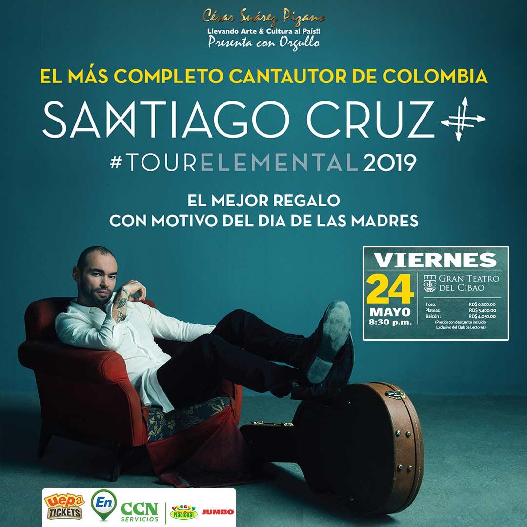 Santiago Cruz Tour Elemental 2019  Santiago
