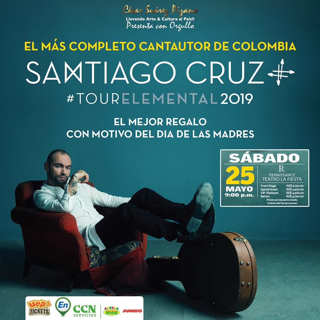Santiago Cruz Tour Elemental 2019  Santo Domingo